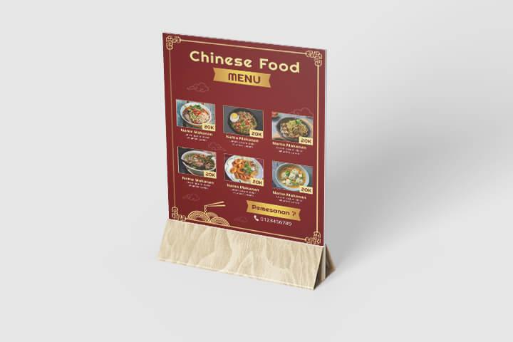 Desain menu chines food