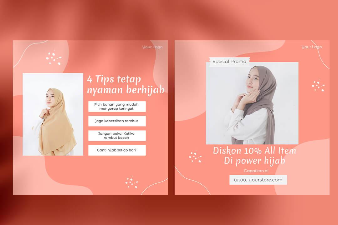 Desain Instagram Feed Tips Fashion Muslim