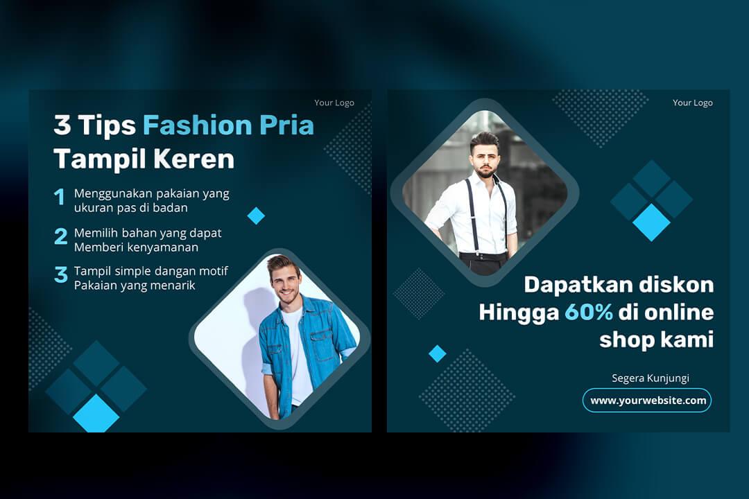 Desain Instagram Feed Tips Fashion Pria