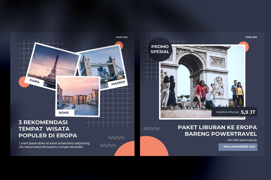 Desain Instagram Feed Tips Travel
